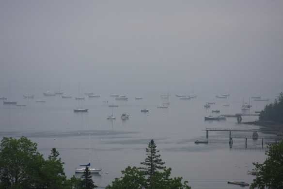 And the fog continues...good morning from Maine!